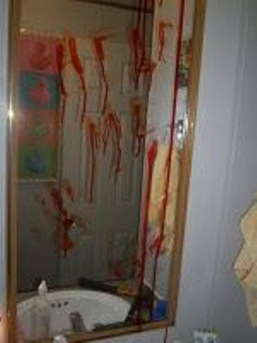 Scary Bathroom Mirror for Halloween