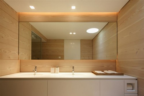 Sleek Large Bathroom Mirror
