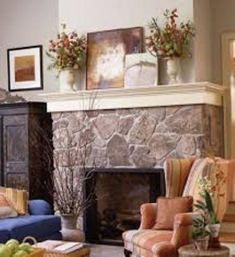 Stone Rock Fireplace Mantel
