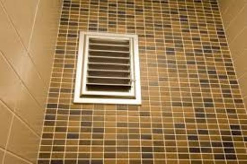 Bathroom Air Vent with Beige Tiles