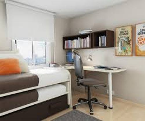 Bedroom with a Modern Desk