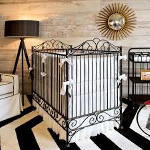 Black Bedroom with a Crib