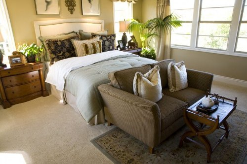 Elegant Bedroom with a Couch