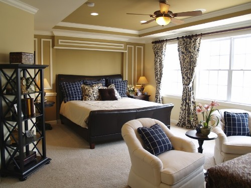 Elegant Bedroom with a Large Window