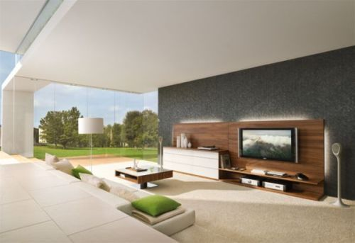 Elegant Living Room Furniture Around TV
