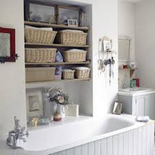 How to Organize a Small Bathroom with no Drawers