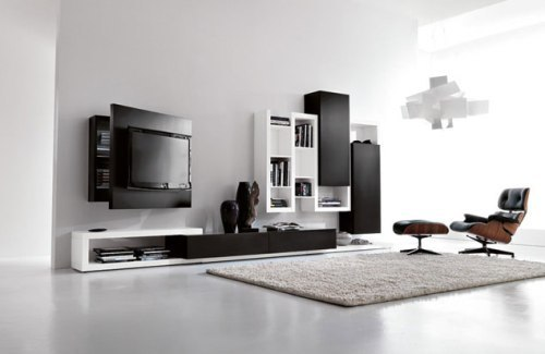 Modern Living Room Furniture Around TV