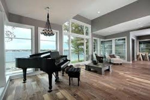 Modern Living Room With A Grand Piano