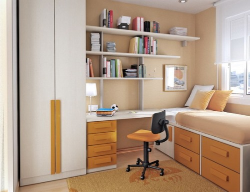 Stylish Bedroom with a Desk