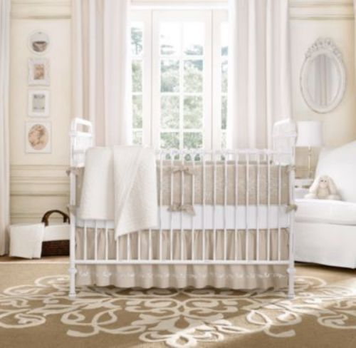 White Bedroom with a Crib