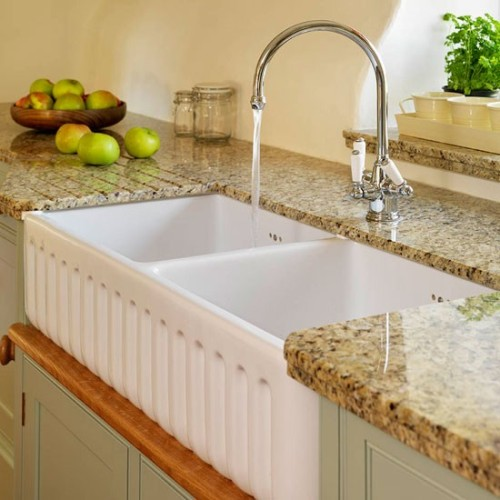 White Kitchen Sink Area