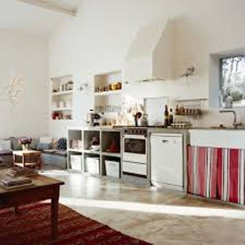 White Kitchen Without Drawers