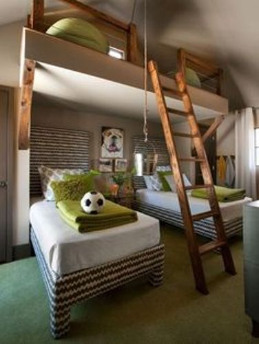 Adorable Pillows on a Bunk Bed