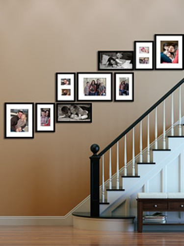 Decorative Family Photos on Hallway Walls