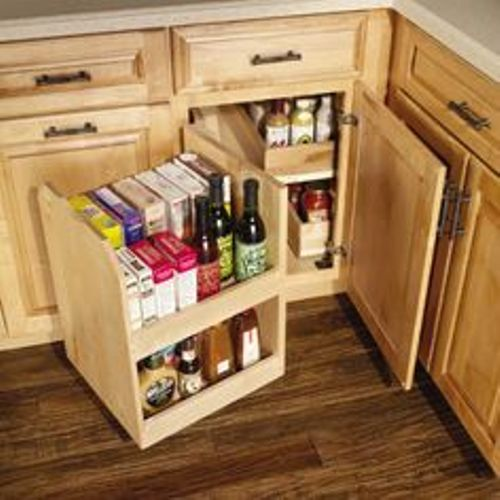 Upper Corner Kitchen Cabinet Organization Ideas