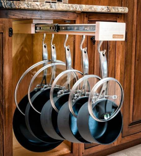 Interesting Kitchen Cabinets Pots and Pans
