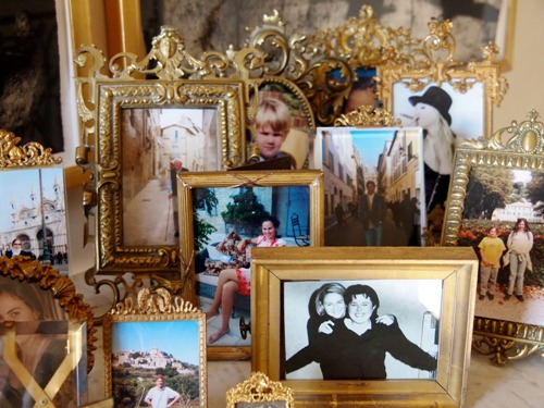 Ornate Frames for Family Pictures on a Table