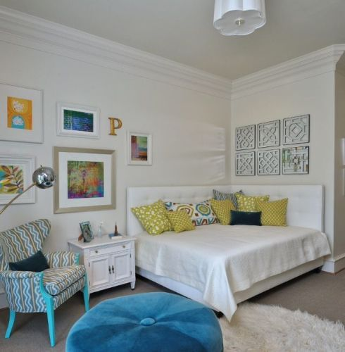 Pillows on a Corner Bed