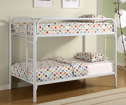 Polka Dot Pillows on a Bunk Bed