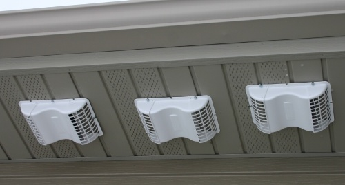 White Bathroom Fan Exhaust Vent