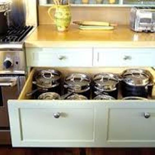 White Deep Kitchen Cupboards