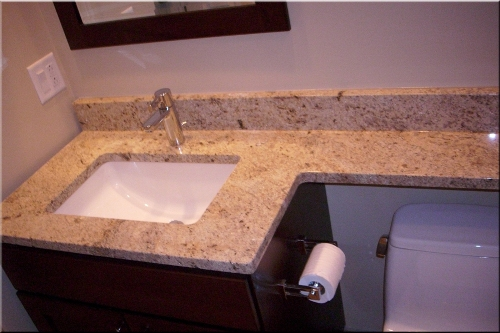 How to install bathroom granite countertops 5 ways for for Replace bathroom countertop
