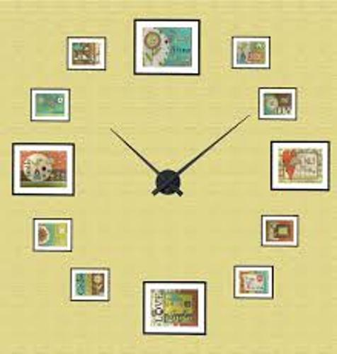 How To Arrange Pictures Around A Clock: 5 Ideas For Nice Wall ...